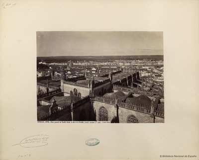 Sevilla, vista general de Sevilla desde lo alto de la Giralda, costado poniente 1º parte. [Material gráfico]
