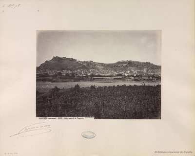 Sagunto (Murviedro), vista general de Sagunto [Material gráfico]