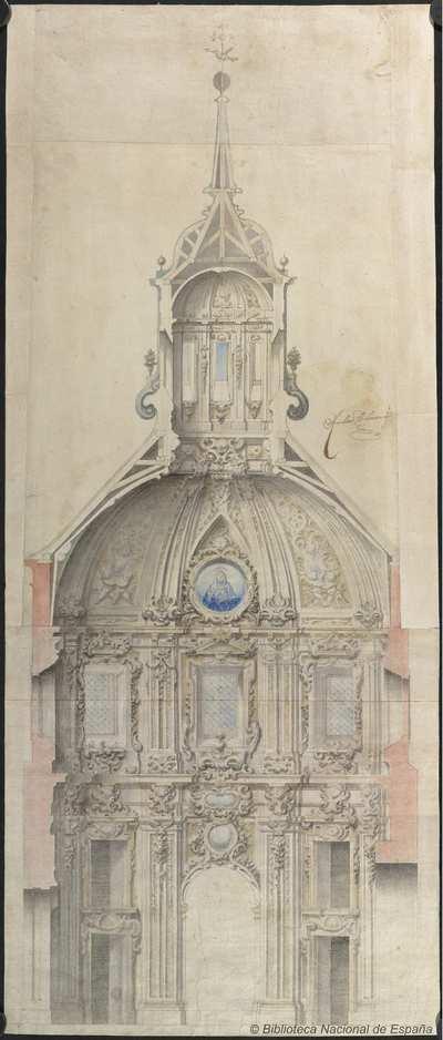 [Proyecto para una capilla de Santa Teresa en la iglesia del Convento de Clérigos del Espíritu Santo en Madrid] [Material gráfico]