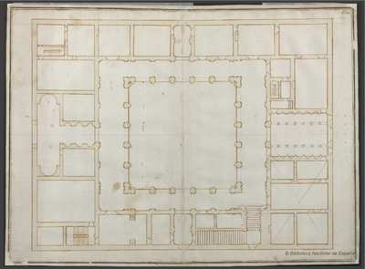 [Planta del Palacio Farnese, Roma] [Material gráfico]