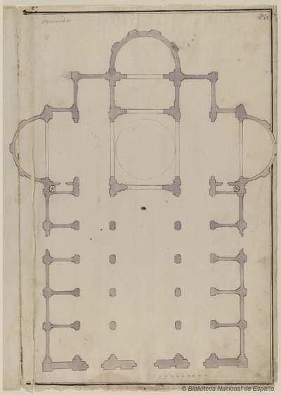 [Planta de la iglesia de San Giovanni dei Fiorentini, Roma] [Material gráfico]