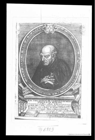 [Retrato de Juan Antonio de Oviedo] [Material gráfico]