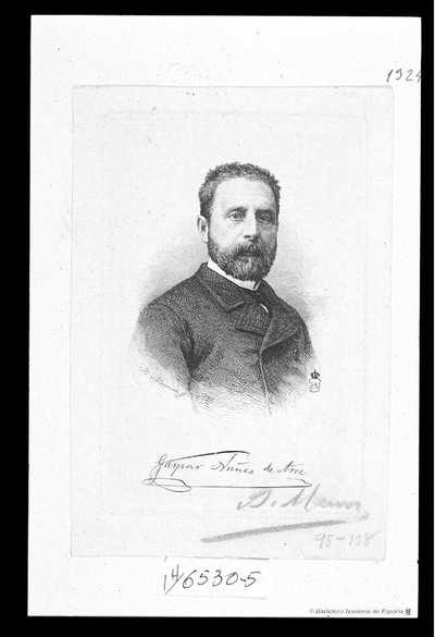 [Retrato de Gaspar Núñez de Arce] [Material gráfico]