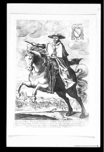 [Retrato de Gil Carrillo de Albornoz] [Material gráfico]Coriolanus f. ..Bolonia, 1635..Esta portada, bellamente grabada también por Il Coriolano, tiene en la parte superior, sostenido por dos matronas que descansan en un...