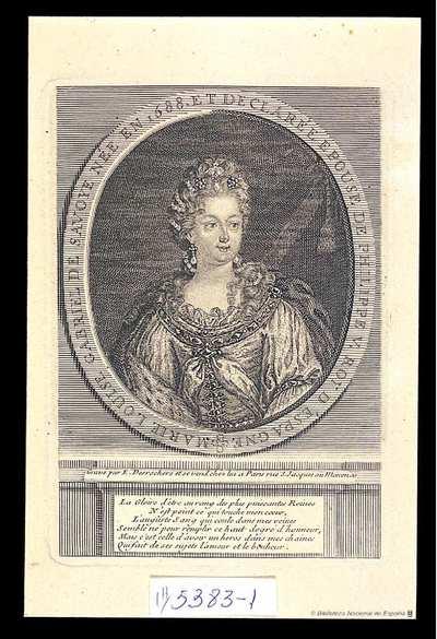 [Retrato de María Luisa Gabriela de Saboya] [Material gráfico]
