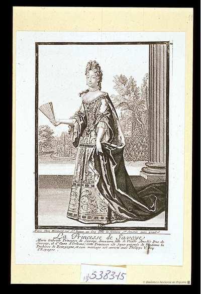 [Retrato de Maria Luisa Gabriela de Saboya] [Material gráfico]A Paris chez H. Bonnart rue St. Iaques au Coq..Fotografía de un grabado