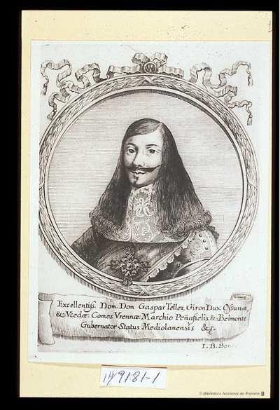 [Retrato de Gaspar Tellez de Giron] C. B.=l. B. Bonacina scul [Material gráfico]