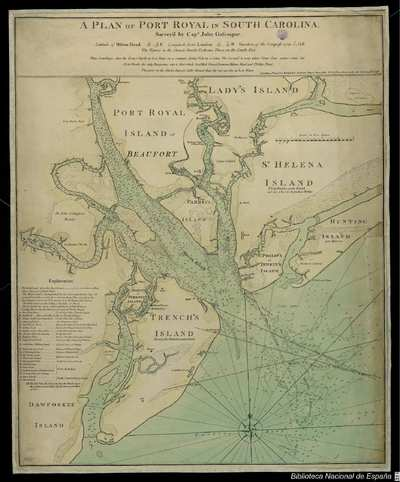 A Plan of Port Royal in South Carolina [Material cartográfico]