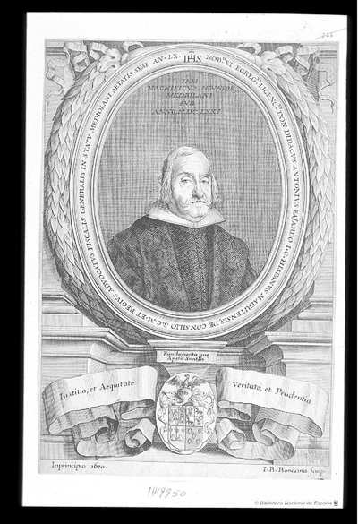 [Retrato de Diego Antonio Yañez Fajardo] [Material gráfico]Dos pruebas sueltas, una de la Colección Carderera
