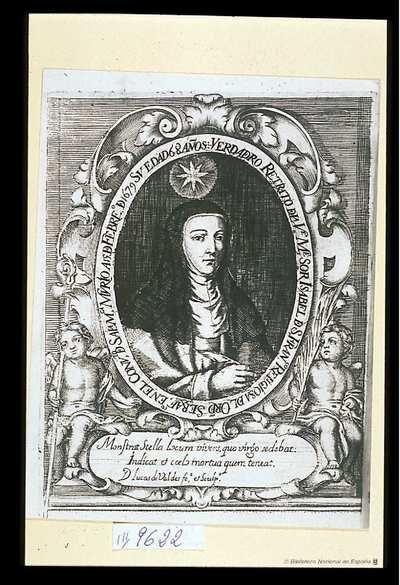 [Retrato de Isabel de San Francisco] [Material gráfico]