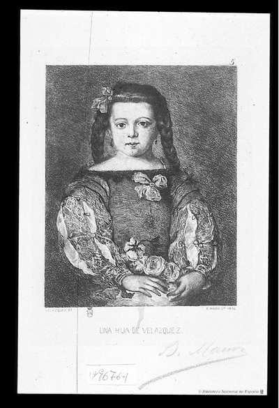 [Retrato de una hija de Velázquez] [Material gráfico]