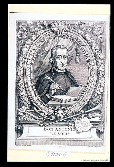 [Retrato de Antonio de Solis y Ribadeneyra] [Material gráfico]Gioseppe Passari disegno. Benedetro Fariat Sculp.