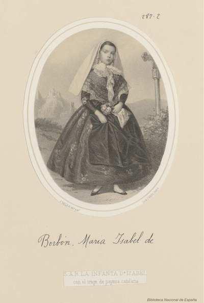 [Retrato de Isabel de Borbón, Infanta de España] [Material gráfico]