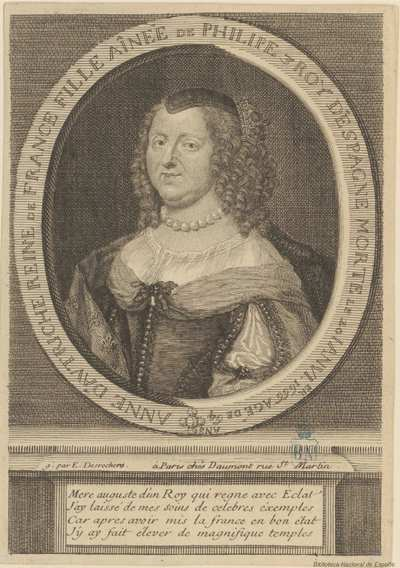 [Retrato de Ana de Austria, Reina de Francia] [Material gráfico]