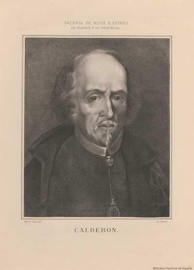 [Retrato de Pedro Calderon de la Barca] [Material gráfico]