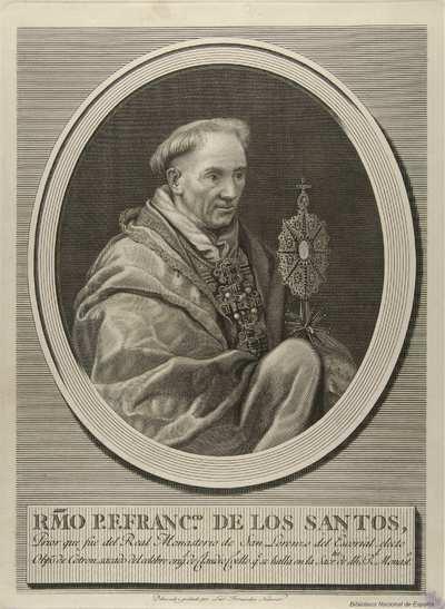 [Retrato de Francisco de los Santos] [Material gráfico]