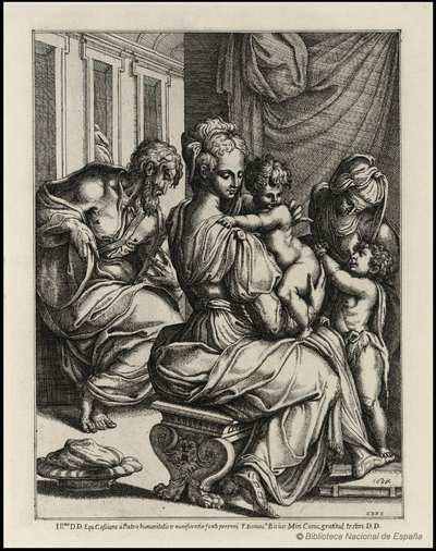 [La Sagrada Familia con santa Isabel y san Juanito] [Material gráfico]