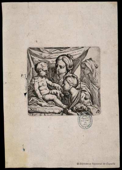 [La Virgen y el Niño con santa Ana y santa Inés] [Material gráfico]