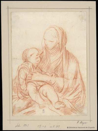 [La Virgen con el Niño] [Material gráfico]