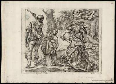 [Martirio de santa Plácida y su hermana santa Flavia] [Material gráfico]