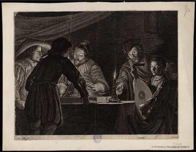 [Los jugadores de backgammon] [Material gráfico]