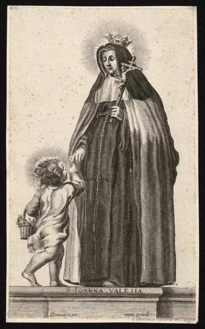 [Retrato de Juana de Valois, Reina de Francia [Material gráfico]