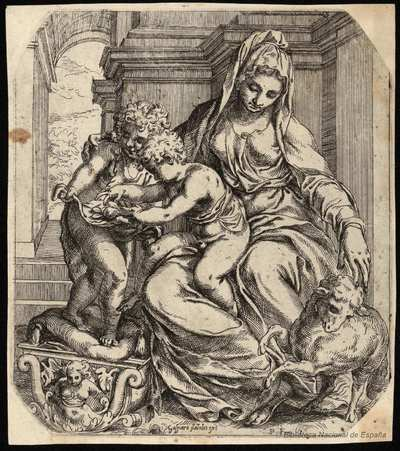 [La Virgen con el Niño y san Juanito] [Material gráfico]