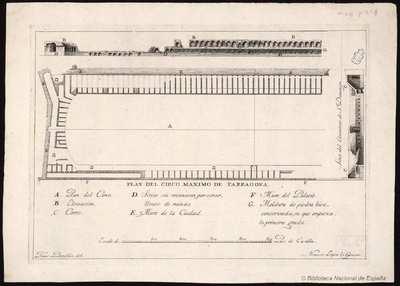 PLAN DEL CIRCO MAXIMO DE TARRAGONA [Material gráfico]