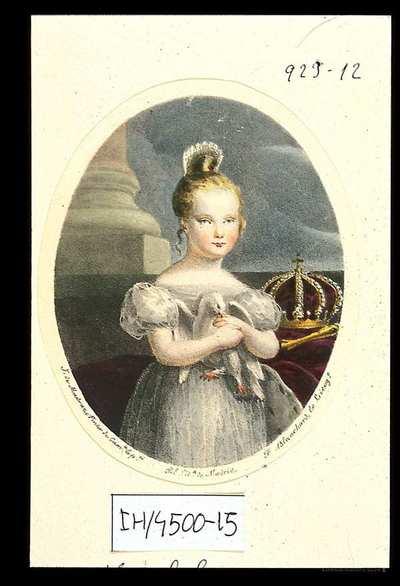 [Retrato de Isabel II, Reina de España] [Material gráfico]