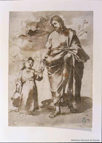 [San José con el Niño] [Material gráfico]