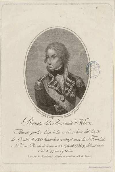 Retrato del Almirante Nelson.