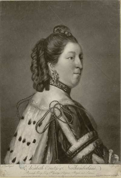 Elizabeth Countess of Northumberland, Baroness Percy, Pucy, Poynings, Fiztpain, Bryan, and Latimer.