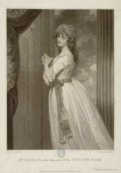 MRS. JORDAN, in the Character of the COUNTRY GIRL