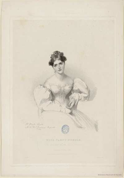 MISS FANNY KEMBLE, (The last work of Sir Thomas Lawrence)