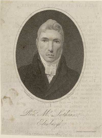 Rev. Mr Lothian. Edinburgh