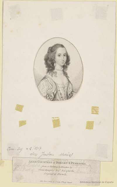 ANNE COUNTESS of DORSET & PEMBROKE.
