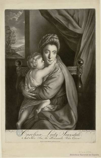 Carolina Lady Scarsdale. : And Her Son, the Honourable John Curzon.
