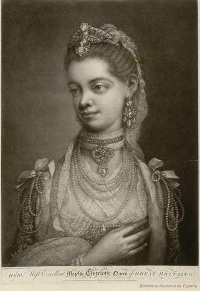 HER Most ExcellentMajesty Charlotte Queen of GREAT-BRITAIN &c Thos Frye, Pictor, ad vivum delineavit et sculpsit