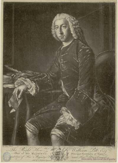 [Retrato de William Pitt, 1er. Conde de Chatham] [Material gráfico]