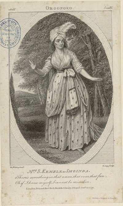 Mrs. S. KEMBLE as IMOINDA