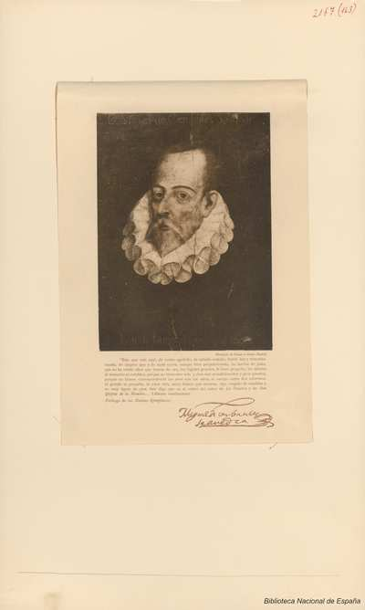 [Retrato de Miguel de Cervantes por Juan de Jauregui]