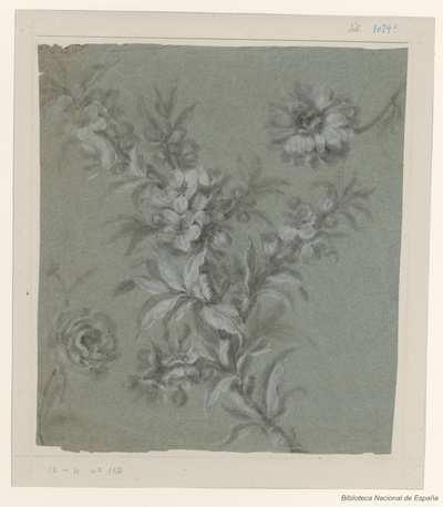 [Rama con flores y bayas] [Material gráfico]