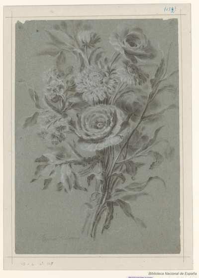 [Ramo de flores con cuatro tallos entrelazados] [Material gráfico]