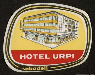Image from object titled [Etiquetas de hoteles de Barcelona provincia].  5