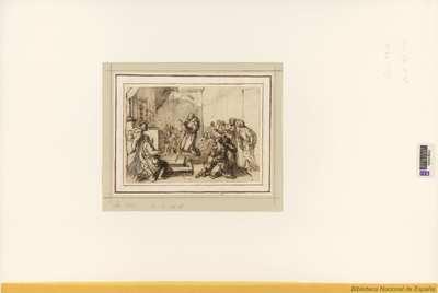 [Levitación de un santo capuchino] [Material gráfico]