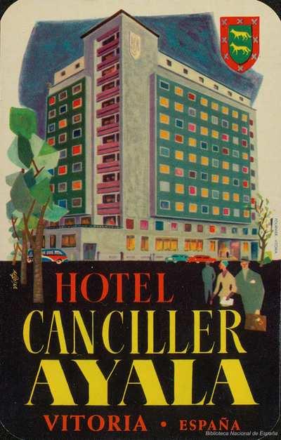 Image from object titled [Etiquetas de hoteles de Álava]