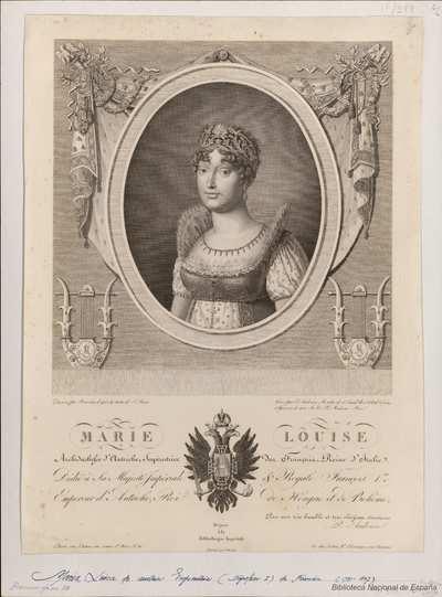 MARIE LOUISE Archiduchesse d'Autriche, Impératrice des Français, Reine d'Italie