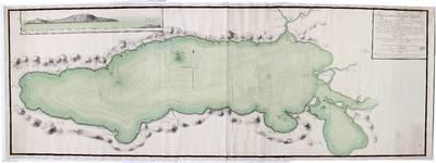 Plano Geométrico del Lago de Chapala situado en el Campamento de Tlachichilco al S. 43º E de la Ciudad de Guadalaxara Capital de la Provincia de N. G. en el Rno. de N.E. a distancia de 12 1/2 leguas [Material cartográfico]