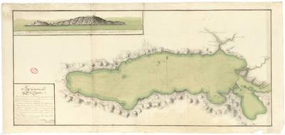 Plano Geométrico del Lago de Chapala situado el Campamento de Tlachichilco al S. 43º E de la Ciudad de Guadalaxara Capital de la Prov.a de la N. G. en el Rno. de N.E. a distancia de 12 1/2 leguas [Material cartográfico]