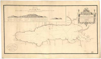 Lago de Chapala. Plano geométrico situado el Campamento de Tachichilco al S. 43º E. de la Capital de Guadalaxara á distancia de 12 1/2 leguas [Material cartográfico]